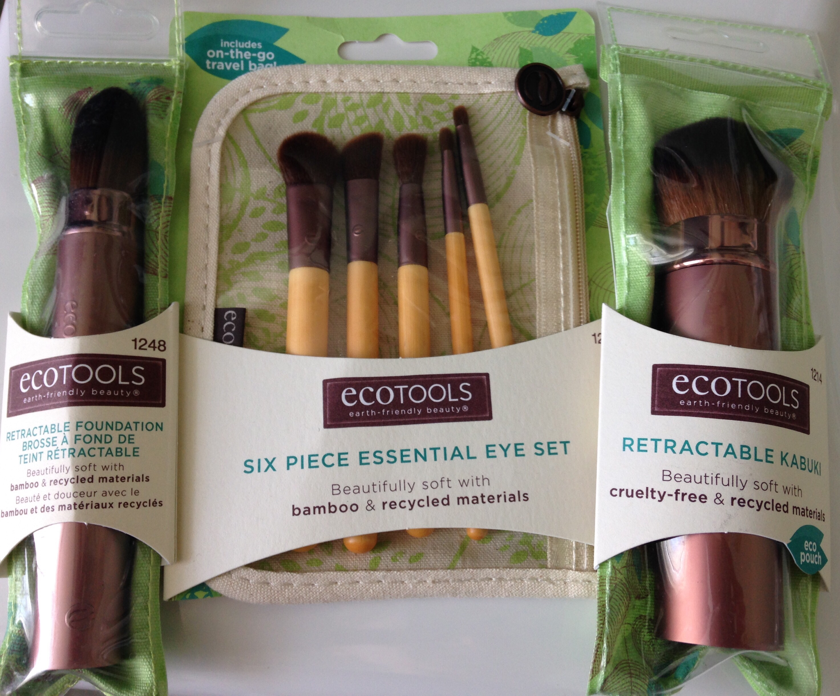 EcoTools, makeup brushes, travel-size