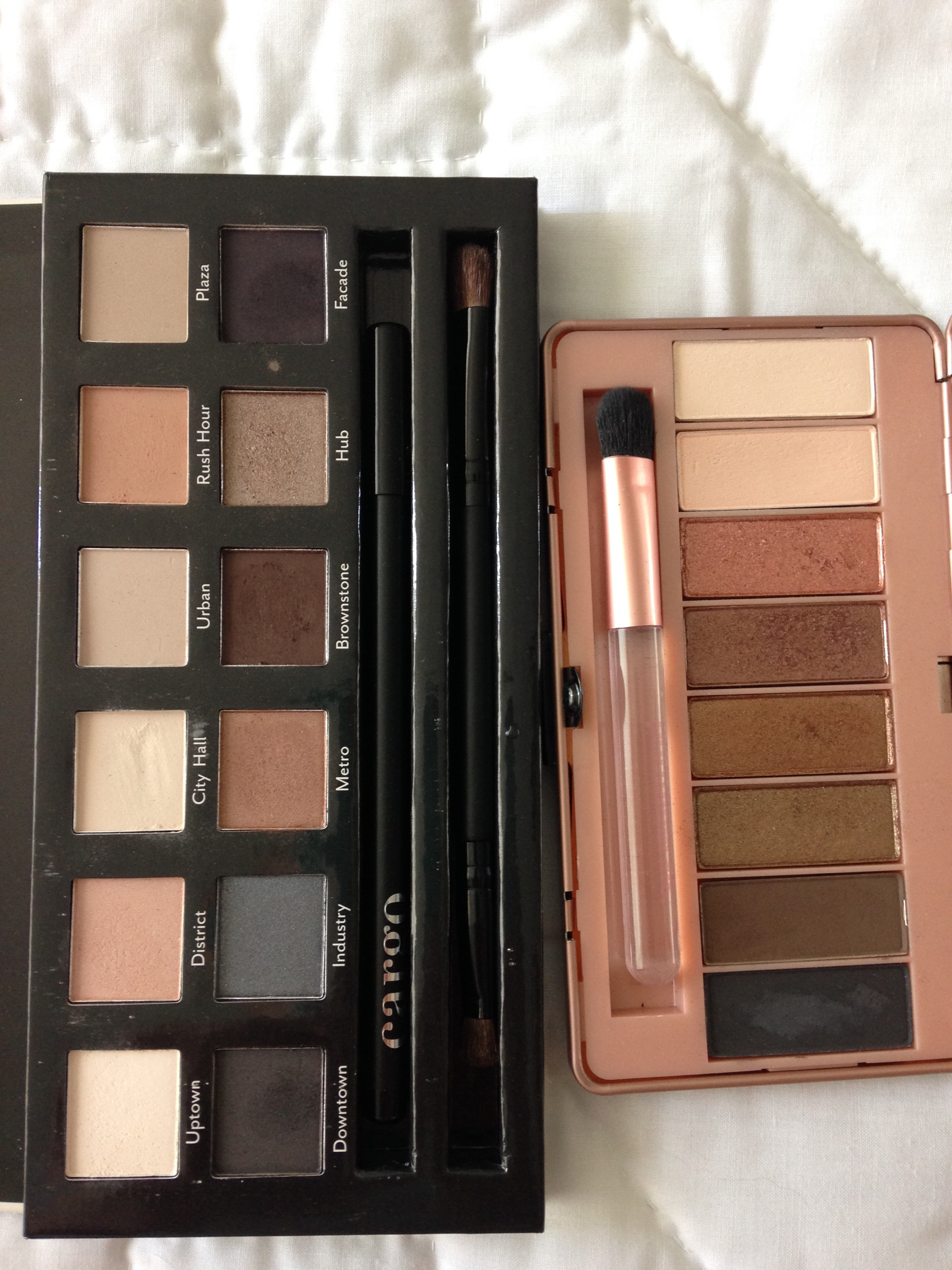 cargo cosmetics, pur minerals, eye shadow, palettes