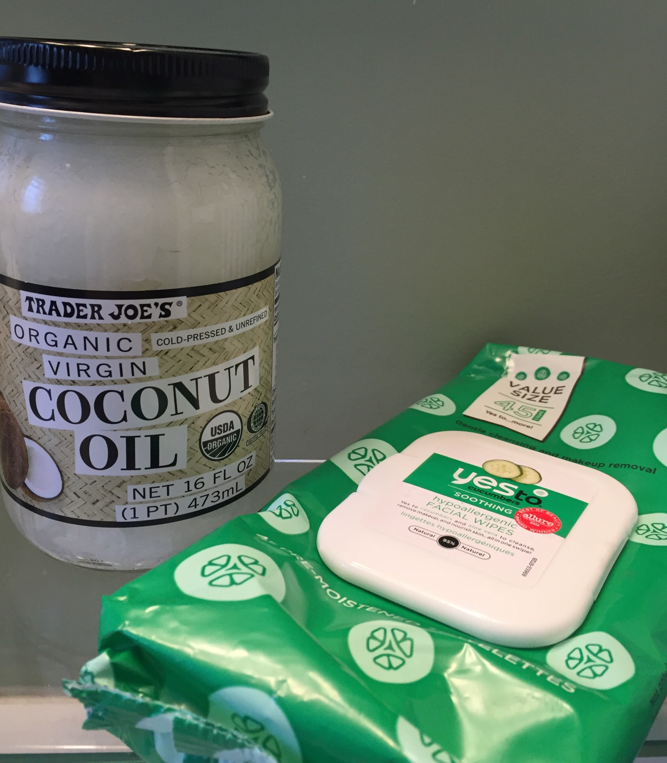 trader joe's, coconut oil, yes to carrots